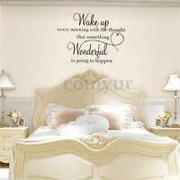 Removable Wall Sticker Wake Up Quote Home Decoration Bedroom DIY Art Vinyl Decal