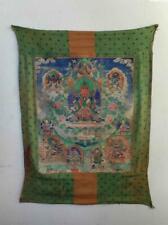 Antique Tibet TOP QUALITY HIGH AGED BUDDHIST THANGKA PAINTING BUDDHA AMITAYUS