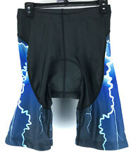 Men's Cycling Shorts Size 2XLarge Black/Blue with Blue Gel Pad Spandex-Polyester