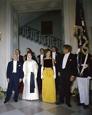 President John Kennedy at State Dinner for Peruvian leader 1961 New 8x10 Photo