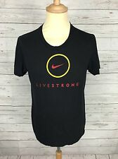 Mens Nike 'Live Strong' T-Shirt - Small - Black - Great Condition
