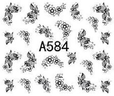 Nail Art Decals Transfers Stickers Lace Pattern (A-584)