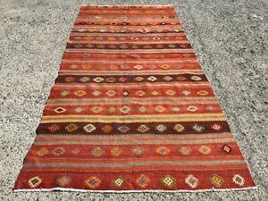 oversized Large Kilim Area Rugs 5.5x11.7 ft, Rug for Living room, vintage carpet