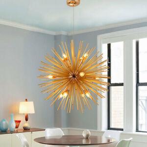 Gold Bar Pendant Lighting Modern Kitchen Chandelier Light Bedroom Ceiling Lights
