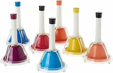 More details for bell choir coloured combi hand bells set 7 extended notes music - press or shake