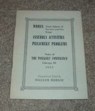 1953 WOMEN Their Sphere of Service & Its Scope Worker's Conference Chicago ILL