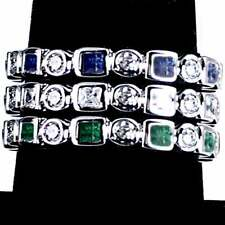 Band Rings_Size-9_925 Sterling Silver 3-Ring Combo #1_Geometric Cz Eternity