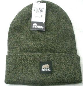 Beanie Hat, Watch Cap, Toboggan Hat, Cuff Cap, Berne Heritage H150, Cedar/ Black