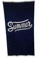Nautical Rope Navy Summer Beach Towel Jumbo Large Bath Sheet 100% Cotton
