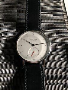 NOMOS GLASHUETTE  Metro  1106 Silver Dial Neomatik Men's Watch Genuine Box&Paper
