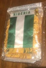 "1 Dozen /12 Piece Nigeria 🇳🇬 Mini Flag 4""x6"" Window Banner w/ suction cup"