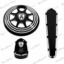 Fuel Tank Door Cover&Dash Track Insert&Ignition Cap For Harley Touring 14-17