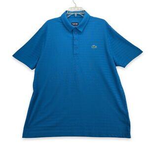 Lacoste Sport Men's Polo Collar Shirt Alligator Logo Size FR 7 US XXL Blue