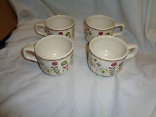 Vintage Lenox Sprite Temperware Coffee Mugs - Retro MOD Butterflies Flowers