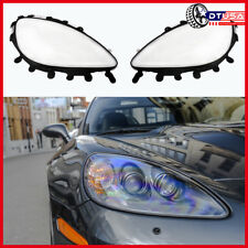 2x Headlight Lens Covers Black + 2x Gaskets Kit For Corvette C6 2005-2013 US
