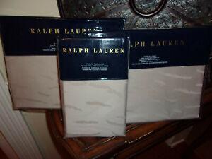 NIP Ralph Lauren Olivia Mirada Vintage Silver Queen Sheet Set 4pc