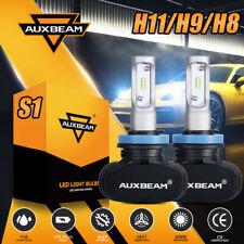 AUXBEAM Fanless Headlight Kit H11 H8 H9 50W 8000LM LED Conversion Bulbs 6500K S1