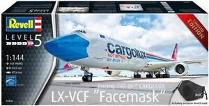 "Revell 1:144 Boeing 747-8F Cargolux ""Facemask"" Aircraft Model Kit - 03836"