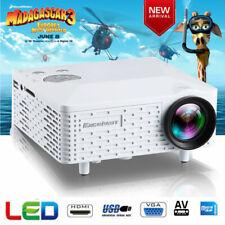 Mini Smart LED Projector Portable HD Video Home Theater Multimedia HDMI USB SD