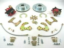 Ford 9'' Rear 11'' Disc Brake Kit Drill & Slotted Rotor W/ E Brake Red BPB-5203B