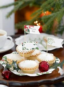 Talking Tables Botanical Christmas Canape Picks for Christmas 24 pack
