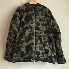Authentic BAPE Jacket 1st Camo Green Reversible Down Jacket Size S
