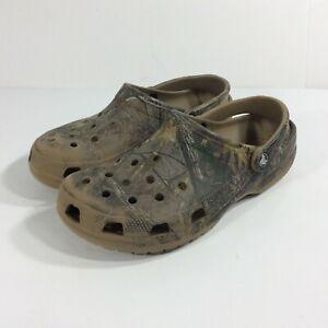 Crocs Men's Size 9 Realtree Camo Slip On Clogs