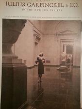 1944 Julius Garfinckel & Co Kraus Original Womens White Fox Collar Fashion Ad