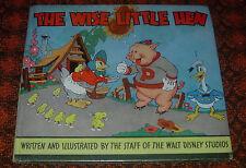 WALT DISNEY'S  THE WISE LITTLE HEN  WHITMAN 1935  1ST DONALD DUCK  KEY BOOK