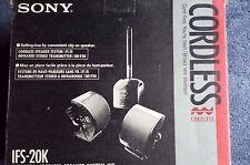 Vinatge SONY IFS-20K Infrared Cordlss Speaker System Kit, New