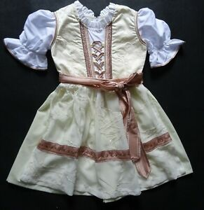 Dirndl Girl New German Special Dress + Apron 4 years