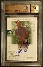 Super Rare 2001 Tiger Woods SP Authentic Golf Rookie Autograph 137/900 BGS 10/10