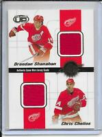 01-02 Heads Up Shanahan/Chelios/Dandenault/Osgood Quad Jersey # 11