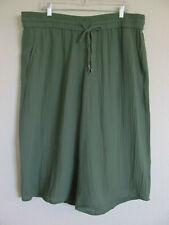 Eileen Fisher Culotte Pants-Organic Cotton Lofty Gauze- Green- Size XL-NWT $158