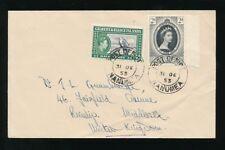 GILBERT + ELLICE ISLANDS NANUMEA 1953 CORONATION + 1/2d FRIGATE BIRD to GB