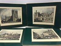 Vintage Lady Clare Hard Board Felt Back London Placemats Prints Scenes Art Of 4