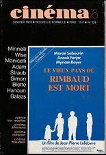 Cinéma78 N° 229/1978 - L'Avance sur Recettes Minelli Wise K. Adam Straub-Huillet