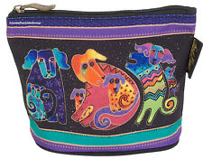 Laurel Burch Dancing Dog Mini Organizer Bag Pouch Makeup Jewely Personal New