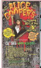 ALICE COOPER Halloween 2012 UK magazine ADVERT / Poster 8x4 inches