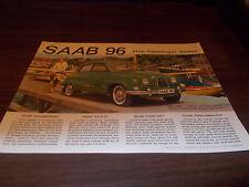 1963 Saab 96 Sales Brochure