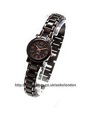 Omax Ladies Black Dial Watch, Black/Rose Finish, Seiko (Japan) Movt. RRP £49.99