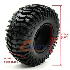 4pcs RC Crawler 2.2 Tires tyres 125mm Fit RC 4wd Axial 2.2in Rock Crawler Rims