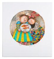"""""""Les Deux Poisson"""" by Graciela Boulanger Signed Lithograph LE of 275 w/ CoA"""