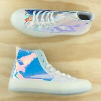 Converse Chuck Taylor All Star 70 Hi Top Iridescent White Shoes 163786C Size 10