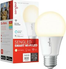 Sengled - Smart Wi-Fi LED Soft White A19 Bulb - White Only