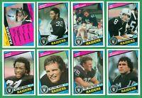 1984 TOPPS LOS ANGELES RAIDERS TEAM SET NM/MT  MARCUS ALLEN x2  HOWIE LONG RC