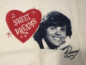 70s Donny Osmond Sweet Dreams Pillowcase Fan Club Item VTG Donny & Marie Osmond