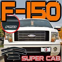 Fits Ford F150 09-13 Super Cab Window Deflectors Vent Rain Guards Visor Extended