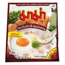 Sopa tailandesa Jok arroz Papilla instantáneo (cerdo) 50g por Mama X 5-Reino Unido Vendedor (R051x5)