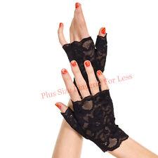 Black Lace Fingerless Gloves   ML416